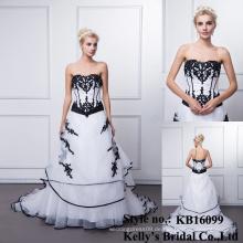 Neuer Entwurfsschatz Form A-line schleppendes Hochzeitskleid / Hochzeitskleid 2016