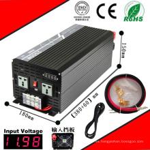 Inversor DC-AC de 2500W Inversor de onda sinusoidal pura de 12VDC o 24VDC de 48VDC a 110VAC o 220VAC con carga de CA