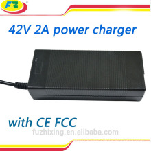 36v lithium battery charger 42v 2a for two wheels self balancing scooter
