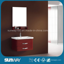 2014 Glossy Italian Solid Wooden Bathroom Cabinet Vanity with Certificate