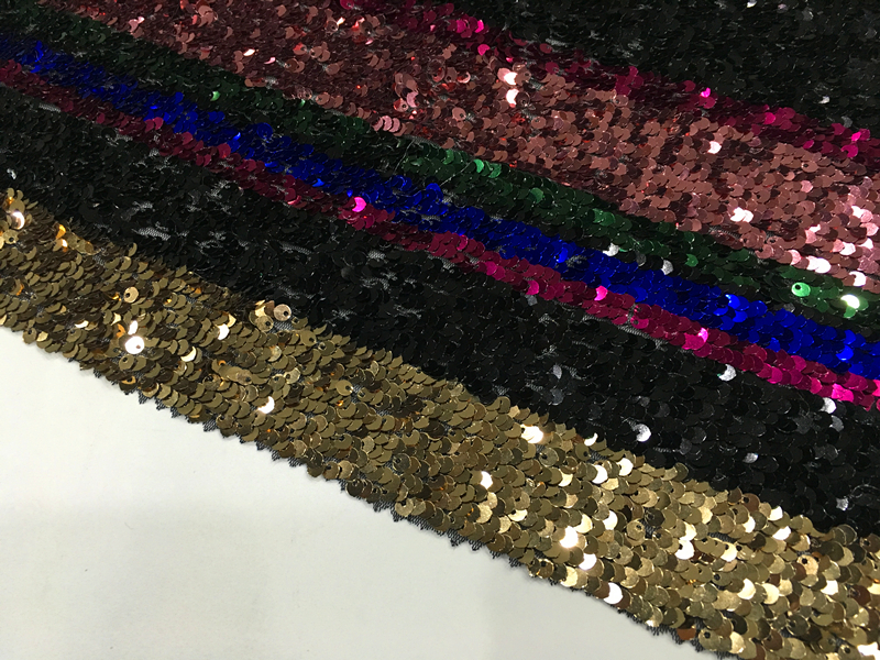 Rainbow Spangle Embroidery Fabric