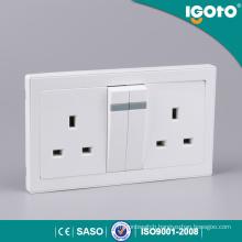 British Standard Electrical Double 13A 3-Pin Plug Socket Multi Plug Socket