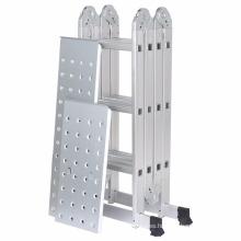Finether 12.1ft Heavy Duty Aluminum Multi Position Extensión plegable con 2 paneles de capacidad de 330lb