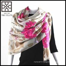 2015 nouvelle conception écharpe femme imprimé fleur impression qualité assuré