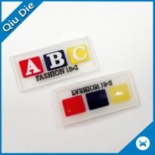 3D Letter Custom Denim Embossed Leather Label for Belt