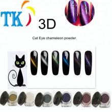Wholesale Fashion 3D Cat Eye chameleon powder for nail polish by magnetic magic