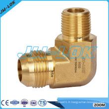 Robinetterie - raccords hydrauliques laiton jic - raccords de tuyaux forgés