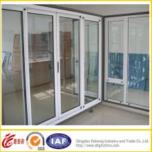 Porta de isolamento térmico de PVC com vidro duplo