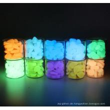 Glow in the Dark Pebbles Leuchtende künstliche Steine für die Gartendekoration von Aquarien