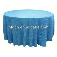Tabelle-Packung für Hochzeitsbankett, Crinkle/zerkleinert Tischdecke, Taft Tabellenabdeckung