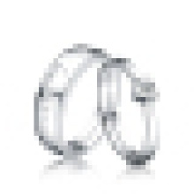 Lovers 925 Sterling Silver Heart-Shaped Opening Ring