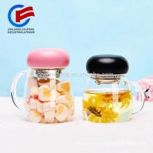 Preciosas tazas de té de vidrio borosilicato con filtro