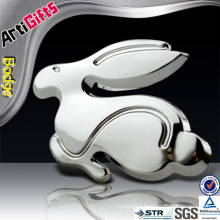 Promotional item metal rabbit car badge