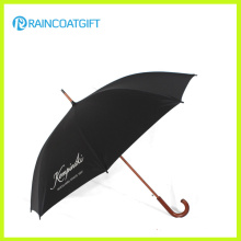 Parapluie de poignée en bois courbé