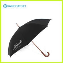Advertisement Curved Wooden Handle Umbrella