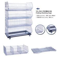Supermarket Wire Mesh Stand Metal Display Basket