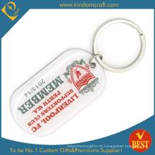 Benutzerdefinierte Großhandel Silkcreen Printed Promotion Metall Schlüsselbund (  LN-0172)