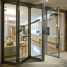 Sensación de más de 2 años de garantía Puerta Bi-Fold de aluminio