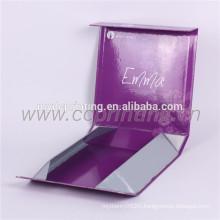 Custom printing cardboard flat pack box with gold foil logo