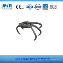 Metal Trauma Óssea Implante Ortopédico Patela Claw Plate