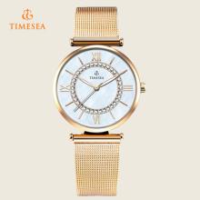 Quarz-Uhr-Frauen-Art- und Weiseuhr-Luxuxquarz-Damen-Armbanduhr 71141