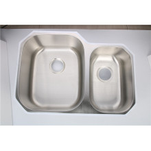 Under Counter Double Bowl Kitchen Basin