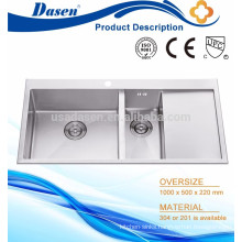 Bath washer sink hand built double bowl with plate Foshan manufacturer