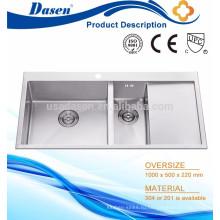 Ванна стиральная машина с раковиной ручной работы двойной чаша с производителем плиты Фошань