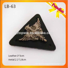 LB63 Metal label patch china jeans leather metal labels jeans leather patch