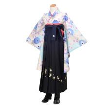 Hellblaue Chrysanthemenstickerei Junior Girl Dress Suit