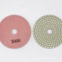 Sharp type Spiral shape white diamond polishing pad
