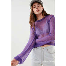 Ladies Sunny Pullover Sheer Sweater