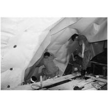 1.2-2.0mm Branco / Cinza PVC Túnel Membrana / PVC Túnel Folha de Impermeabilização