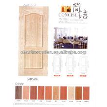 Folheado hdf pele porta de madeira para carvalho, cinza, teca