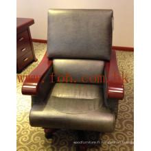 Mobilier de bureau Chaise de repos en bois en cuir italien en cuir pivotant / Directeur général Président / CEO Chaise de patron