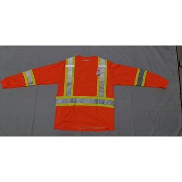 ENISO 20471/EN 471/ANSI Long Sleeves High Reflective Safety T-shirt Lime and Orange