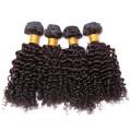 100 не клубок девственной монгольский странный вьющиеся волосы, монгольский натуральные волосы плетение