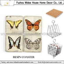 Coaster Handmade da resina da alta qualidade