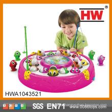 Juguete educativo del regalo del cabrito eléctrico que gira la pesca eléctrica del juguete del juego