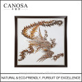 CANOSA Golden paua shell main engarving phoenix photo mur