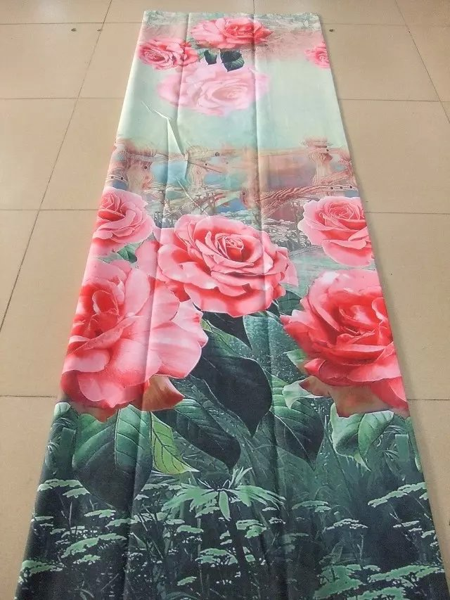 Polyester Bed Sheet fabric 3D