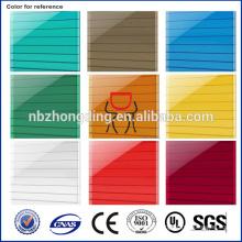 UV invernadero protegido plástico hueco hoja de policarbonato de 8 mm / invernadero UV policarbonate hoja