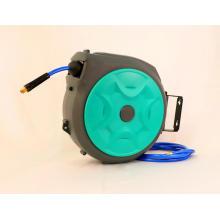 Carrete de manguera de aire retráctil de rebobinado automático montado en la pared