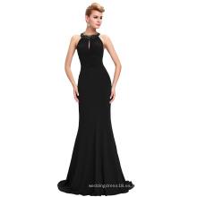 Starzz 2016 Sexy piso de longitud sin mangas Backless plisados lentejuelas granos Stretchy libre vestido de baile ST000089-1