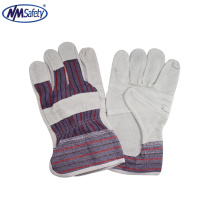 NMSAFETY china manufacture cheap leather welding safety en388 gloves
