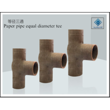 Paper tee equal diameter pipe