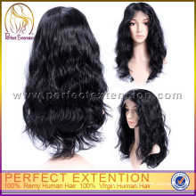 100% Human Natural Style Women Indian Virgin Hair Front Lace Wig