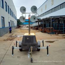 Projetor de iluminação portátil gerador diesel gerador de torre de luz FZMDTC-1000B