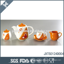 Pretty best quality heat resistant ceramic canister tea coffee sugar set