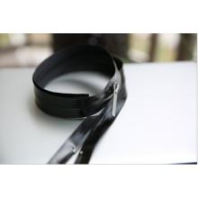 Fermeture à glissière en nylon noir étanche pour vêtement